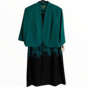 Maya Brooks Dress and Jacket NWT